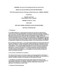 MANUAL OF COLLECTIONS POLICIES AND PROCEDURES FOR ...