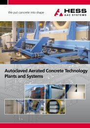 Autoclaved Aerated Concrete Technology Plants and ... - HESS Group