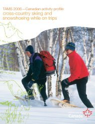 cross-country skiing and snowshoeing while on trips - Canadian ...