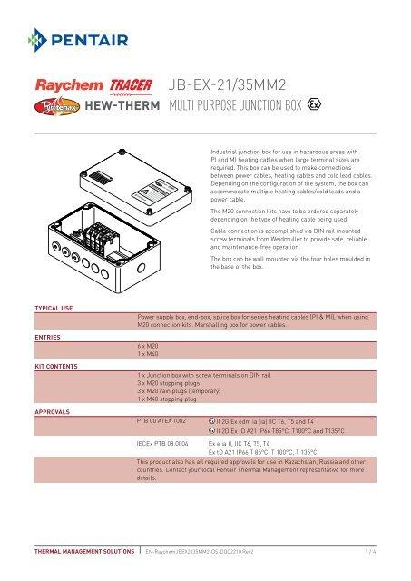 JB-EX-21/35MM2 - Pentair Thermal Controls