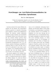 Forschungen zur Arzt-Patient-Kommunikation im deutschen ...