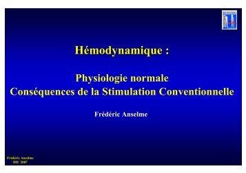 Hémodynamique et stimulation