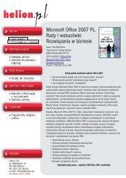Microsoft Office 2007 PL. Rady i wskazówki. Rozwiązania ... - Structum