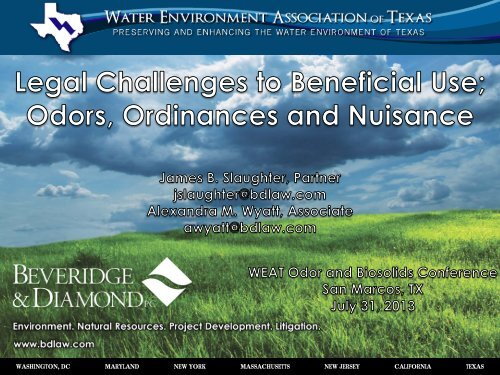 Odors, Nuisance and Current Legal Challenges to Beneficial Use