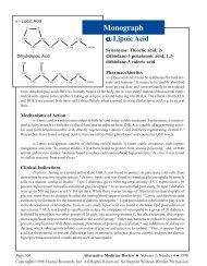 Monograph - Alternative Medicine Review