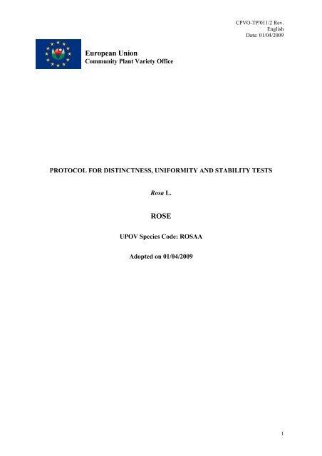 CPVO Protocol for Impatiens walleriana - VAAD