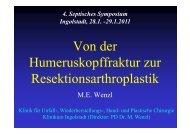 Von der Humeruskopffraktur zur Resektionsarthroplastik - Septische ...