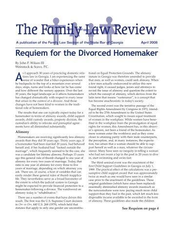 Requiem for the Divorced Homemaker - Atlanta - Divorce Lawyer ...