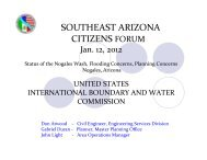 Nogales Wash Basin - International Boundary and Water Commission