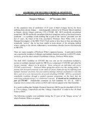 ALLERGIES AND MCS IN CFS/ME - Margaret Williams - MEActionUK