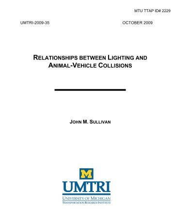 relationships between lighting and animal-vehicle collisions