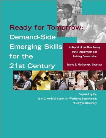 Emerging Skills - John J. Heldrich Center for Workforce ...