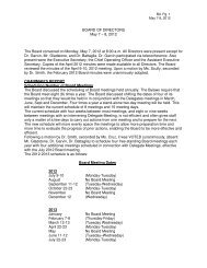 American Kennel Club - May 2012 AKC Board Meeting Minutes