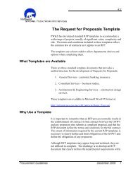 The Request for Proposals Template