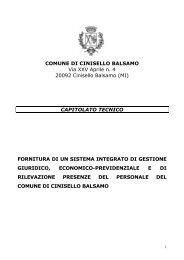 Capitolato TECNICO rev PRESENZE - Comune di Cinisello Balsamo