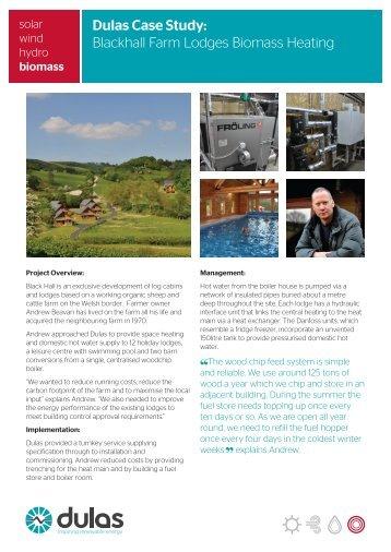 Blackhall Farm Lodges Biomass Heating - Ecobuild Product Search