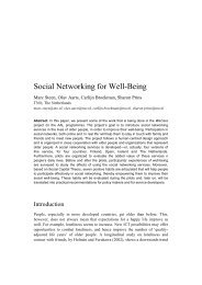 Social Networking for Well-Being - Marc Steen