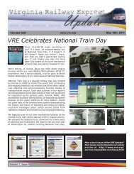 May 2011 - Virginia Railway Express