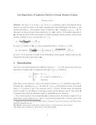 Low Eigenvalues of Laplacian Matrices of Large Random Graphs ...