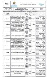FORM PAC Programa Anual de Contrataciones - Ministerio de ...