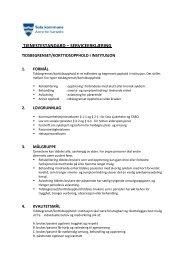 Serviceerklæring Tidsbegrenset/korttidsopphold i institusjon