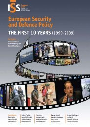 European Security and Defence Policy - European Foreign and ...