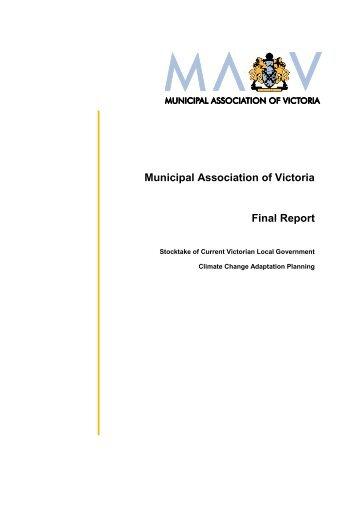 Municipal Association of Victoria Final Report - Climate Adaptation ...
