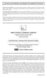 Indofood - First Pacific Company Limited