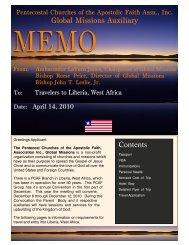 TriptoMonroviaNeeds 2 - The Pentecostal Churches of the Apostolic ...