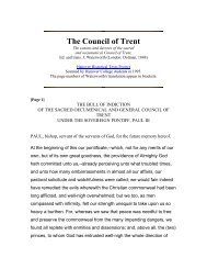 The Council of Trent - Shattering Denial