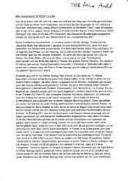 Erlebnisbericht 2010/11, Katharina Baumann - Rainer Arnold