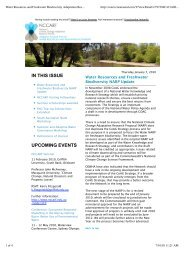Water Resources and Freshwater Biodiversity Adaptation Research ...