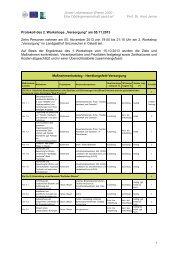 Protokolle 2. Runde Workshops Wieren 2030 - Samtgemeinde Aue