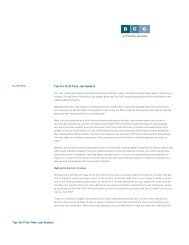 Tips for First-Time Job Seekers Tips for First-Time ... - Legal Recruiters
