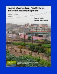 Views - Journal of Agriculture, Food Systems, and Community ...