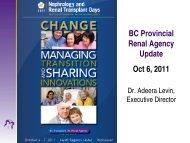Presentation - BC Renal Agency