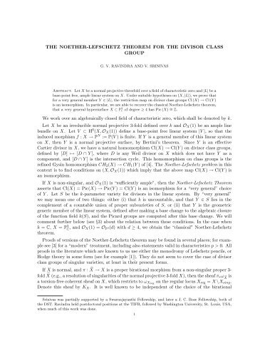 THE NOETHER-LEFSCHETZ THEOREM FOR THE DIVISOR ...