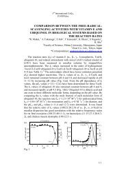 comparison between the free-radical- scavenging activities with ...