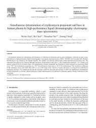 Simultaneous determination of erythromycin propionate and base in ...