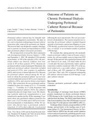 Outcome of Patients on Chronic Peritoneal Dialysis Undergoing ...