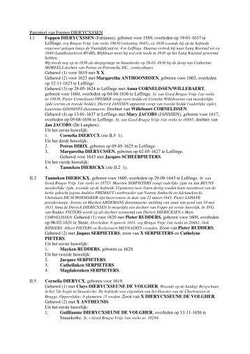 Parenteel van Foppen DIERYCXSSEN I.1 Foppen ... - Erfgoedblog