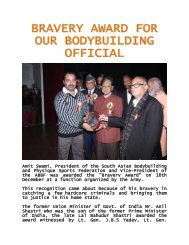 BRAVERY AWARD FOR OUR BODYBUILDING OFFICIAL - ABBF