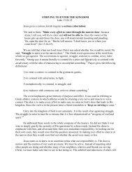 1 STRIVING TO ENTER THE KINGDOM Luke 13 ... - Vital Christianity