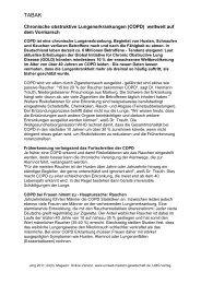 Chronische obstruktive Lungenerkrankungen (COPD) - UMG-Verlag