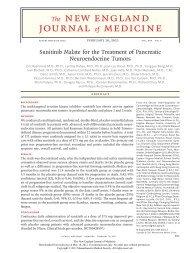 Sunitinib Malate for the Treatment of Pancreatic Neuroendocrine ...