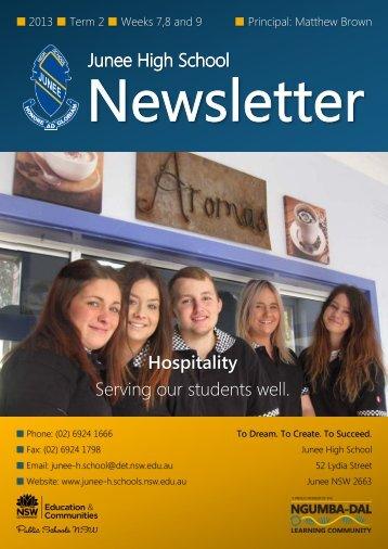 No 9 Newsletter June 2013 - Junee High School