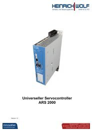 Universeller Servocontroller ARS 2000 - Heinrich Wolf - Antriebs