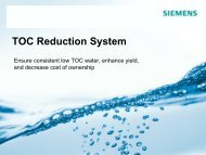 TOC Reduction System Presentation - Siemens