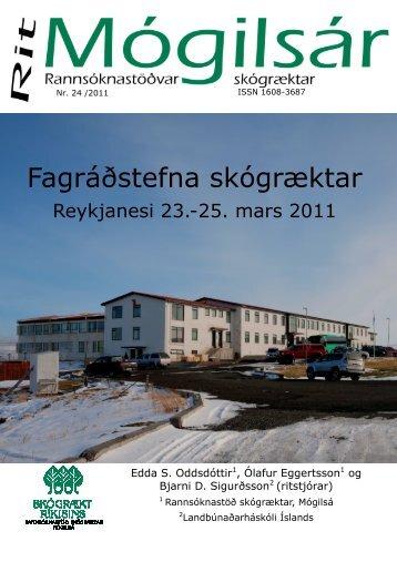 Fagráðstefna skógræktar, Reykjanesi 23. - 25 ... - Skógrækt ríkisins