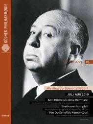 DAS MAGAZIN Aboausgabe - Kölner Philharmonie